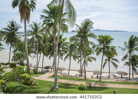 Pattaya arch bay at Pattaya city,Thailand. - stock photo