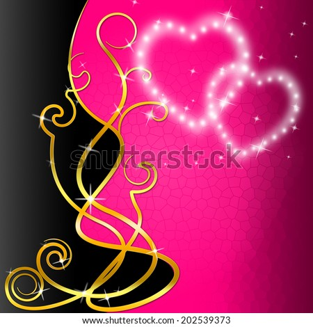 Pattern Copyspace Representing Heart Shape And Lovers - stock photo