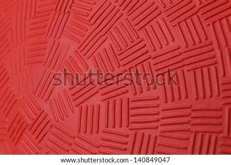 Pattern Design of Red Rubber Ball. - stock photo
