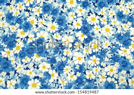 pattern flower on cloth fabric  for business - stock photo