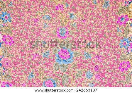 Pattern for traditional clothes include batik - stock photo