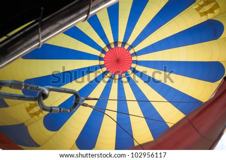 Pattern inside hot air balloon - stock photo