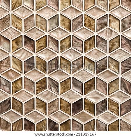 Pattern mosaic glossy style - stock photo