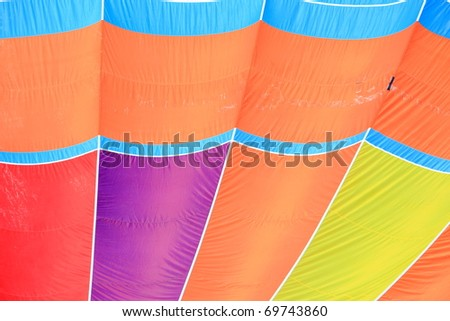 pattern of a colorful hot air balloon - stock photo