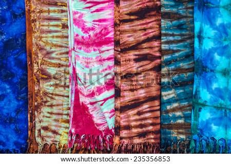 Pattern of Batik fabric. - stock photo