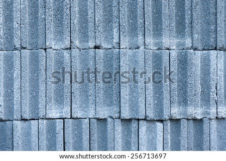 Pattern of concrete block bricks stacked together#1 - stock photo