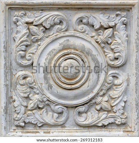 Pattern of flower sculpture - stock photo