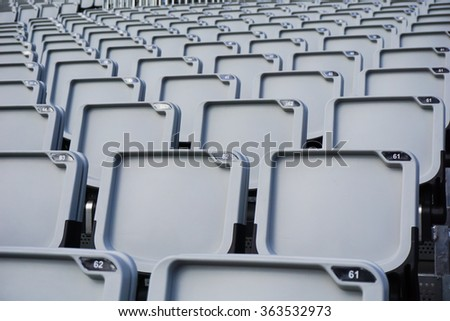 Pattern of gray of chair amphitheater - stock photo