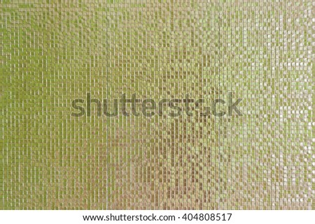 Pattern of green mosaic wall texture and background - stock photo