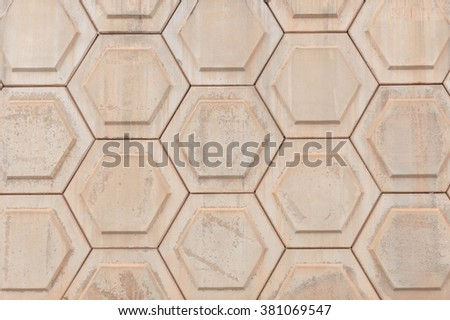 Pattern of Hexagon concrete background - stock photo