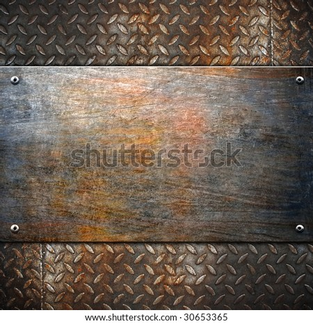 pattern of metal background - stock photo