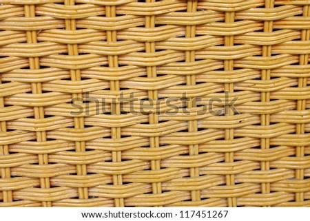 pattern of rattan furniture, background - stock photo