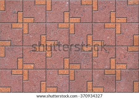 Pattern of sidewalk pavers - stock photo