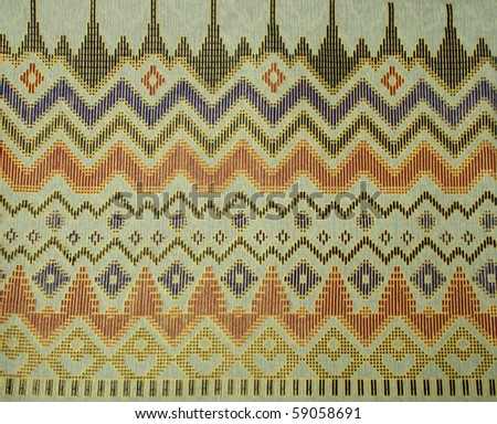 Pattern of Thailand native cloths - stock photo
