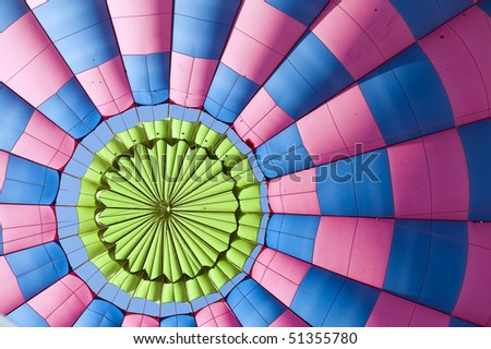 Pattern of the Close up at the top of hot air balloon - stock photo