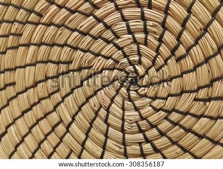Pattern of weave mat - stock photo