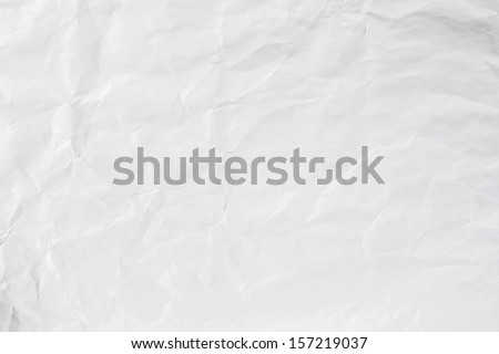 Pattern of white hand made crashed paper - stock photo
