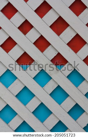 pattern of white wooden fence - stock photo