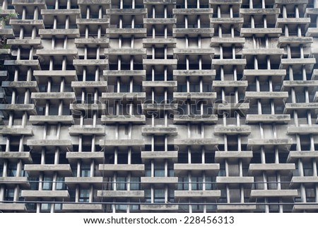 Pattern of windows old building - stock photo