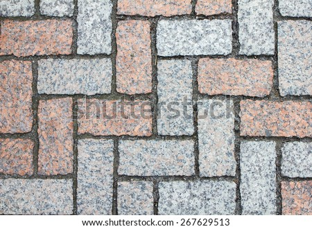 pattern old brick wall background - stock photo