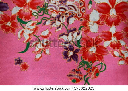 Pattern on cloth texture , general traditional Thailand style native.  - stock photo