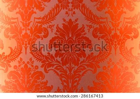pattern orange wallpaper - stock photo