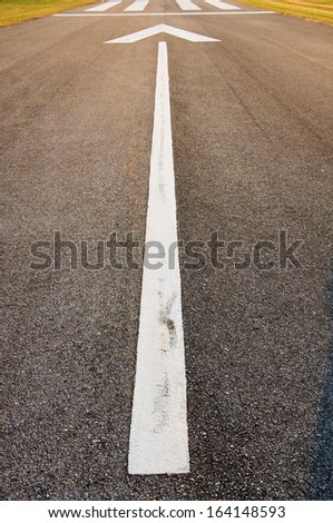 pattern road symbol line traffic on runway airport - stock photo