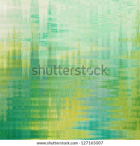 Pattern textured painting in green tones. - stock photo