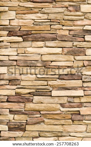 Pattern Vintage Color Texture of Modern Style Design Decorative Uneven Cracked Real Stone Wall Surface with Cement for Construction Work - stock photo