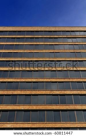 Pattern window and wall - stock photo