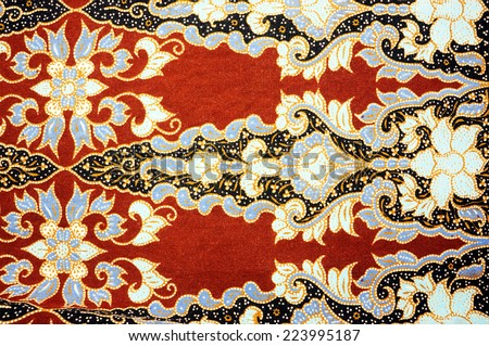 patterned cloth - stock photo