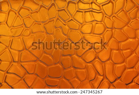Patterned glass and reflections - stock photo