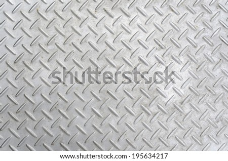 Patterned steel  - stock photo