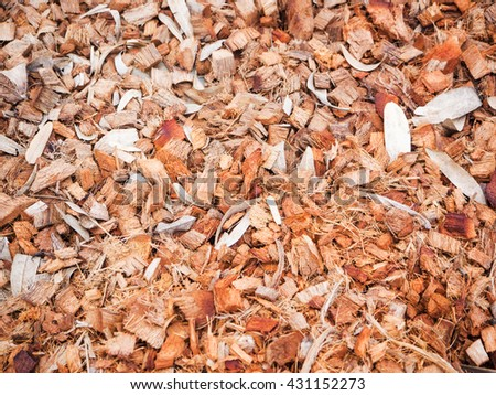 Patterns of coconut fiber for soil fertilizer - stock photo
