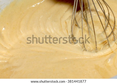 patterns on the surface under test whipping blender - stock photo