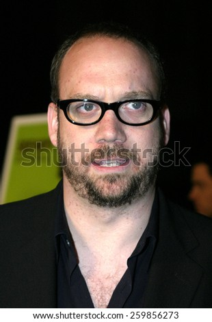 """Paul Giamatti at the """"Sideways"""" Los Angeles Premiere held at the Academy of Motion Pictures Arts and Sciences in Beverly Hills, California United States on October 12 2004. - stock photo"""