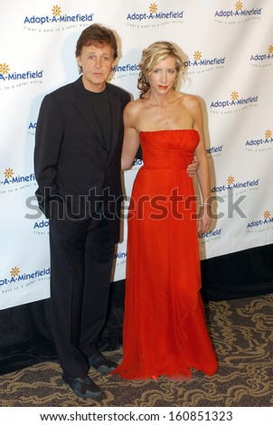 Paul McCartney and his wife Heather Mills McCartney at the 4TH ANNUAL ADOPT-A-MINEFIELD GALA, LA, CA October 15, 2004 - stock photo