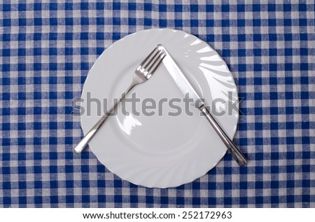 Pause - table manners  - stock photo