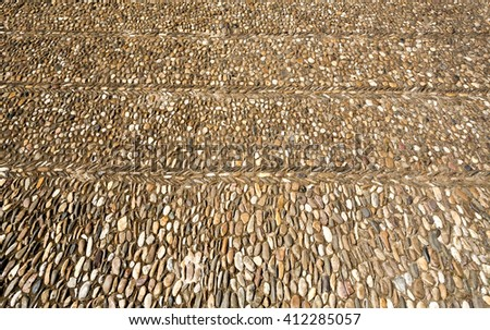 Pavement of the Courtyard of the Oranges at the Great Mosque of Cordoba, Spain - stock photo