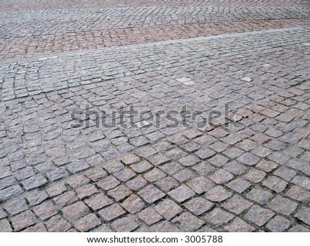 pavement perspective - stock photo