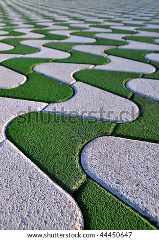 Pavement perspective - stock photo