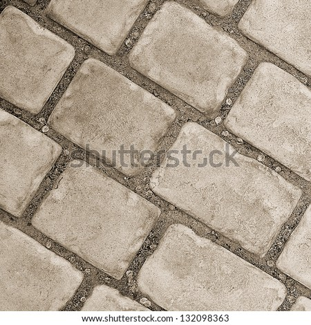 Pavement texture  road a pavement in an old city - stock photo