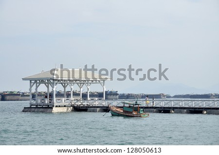 Pavilion Nature Outdoor Wood Day Sea - stock photo