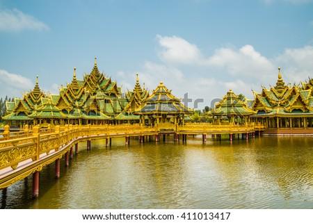 Pavillion of the Enlightened, Ancient City, Samutprakarn,Thailand.  - stock photo