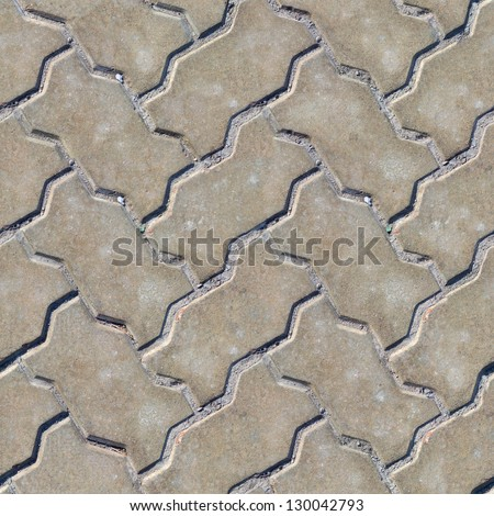 Paving Slabs. Seamless Tileable Texture. - stock photo