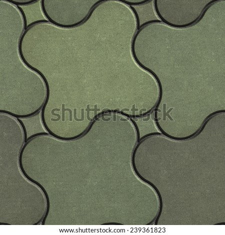 Paving Stone in the Shape of Quatrefoil in Marsh Color Tones. Seamless Tileable Texture. - stock photo