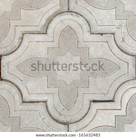 Paving white slabs close up as background. - stock photo