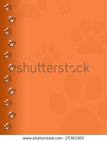 Paw print - stock photo