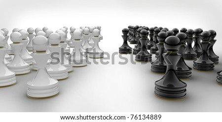 Pawn chess isolated 3d render - stock photo