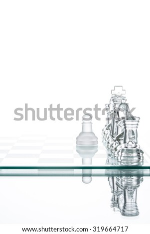 Pawn chess Loneliness battling, business Plan strategy Success Concepts And Ideas - stock photo